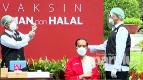 Jokowi terima suntikan vaksin dos kedua, kesan sampingan tidak menjejaskan langsung aktiviti harian
