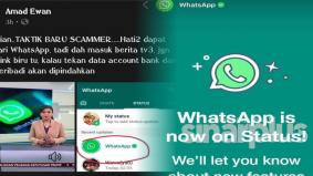 Tak pasti jangan kongsi! Kemunculan status update dari WhatsApp timbul kekecohan