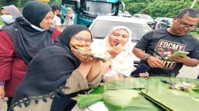 Pemilik restoran belanja ikan tilapia, jamu beratus pemandu lapar setelah terkandas 12 jam akibat banjir