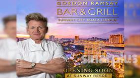 Peminat tak perlu terbang ke UK, Gordon Ramsay bakal buka restoran pertamanya di Sunway
