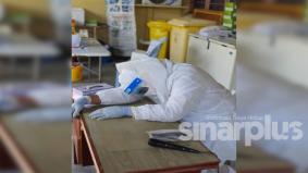 Lengkap dengan PPE, doktor tertidur semasa bertugas dan akhirnya meninggal dunia, ini apa kata KKM