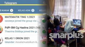 Asing kerja sekolah anak dalam grup dengan mudah, wanita ini kongsi guna folder Telegram