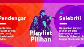 Lagu pilihan dimainkan di radio Suria FM
