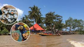Pasar Terapung Pulau Suri dikatakan persis di Hatyai, jual makanan tempatan, viral Kelantan memang best