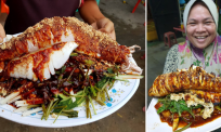 Resipi tersendiri rojak sotong gergasi milik pasangan suami isteri ini viral satu Malaysia