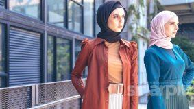 Elemen minimalis, pleat Larney ideal untuk hijabi moden
