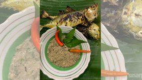Sepuh pelengkap ikan bakar, nasi putih di majlis keramaian