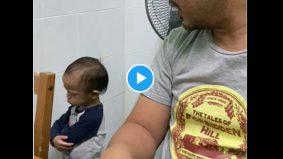 """[VIDEO]""""Awak merajuk ke tengah sembahyang?"""" - Budak merajuk dengan bapa bikin terhibur"""