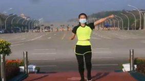 Video wanita aerobik layan 'Ampun Bang Jago' tular, tak perasan apa berlaku