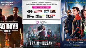 Astro tawar tontonan percuma untuk saluran filem terpilih bermula hari ini