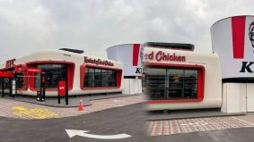 Outlet KFC pertama di Bukit Raja reka bentuk 'old school' 50-an!