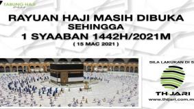 Rayuan Haji 2021 secara online dilanjutkan sehingga 15 Mac, ini cara untuk mendaftar