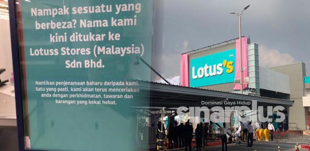 Tesco tinggal kenangan, kini diganti dengan Lotuss Store