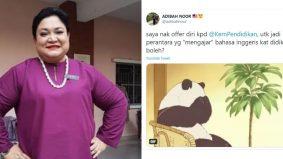 Adibah Noor tawar diri ajar Bahasa Inggeris di DidikTV, ada persoal kelayakan