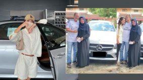 Daiyan Trisha hadiahkan kereta mewah untuk ibu bapa