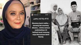 Ibu Nita Hamzah meninggal dunia