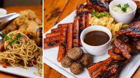 Sajian mewah Brader's Cafe, masakan Barat porsi besar dan banyak, harga berbaloi