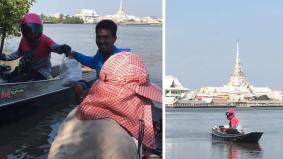 Sanggup hantar makanan sampai ke sungai, abang delivery ini bukan biasa-biasa