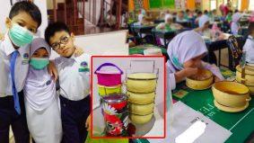 """""""Selagi mampu, saya masak sahaja"""" - Ibu murid tular makan bekal mangkuk tingkat"""