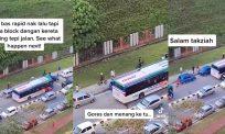 "[VIDEO]""Gores dan menang ke tu?"" – Ramai puas hati tengok kereta parking halang laluan bas"