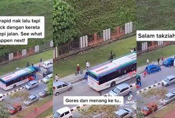 "[VIDEO]""Gores dan menang ke tu?"" - Ramai puas hati tengok kereta parking halang laluan bas"