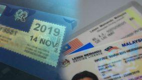 Senangnya! Renew lesen memandu secara online, tak perlu beratur panjang di kaunter