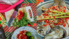 Ikan siakap Pla Neung Manao enak dengan hanya 3 langkah mudah