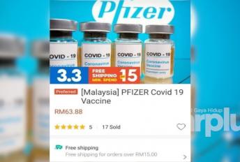 Vaksin Covid-19 dijual dengan harga RM63.88, ini penjelasan Shopee