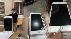 Lelaki ini beli iPhone secara online, terkejut bila meja berbentuk telefon pula yang sampai!