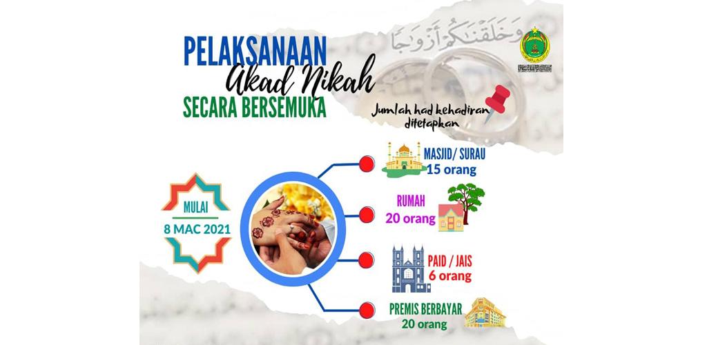 Bakal raja sehari di Selangor dibenarkan majlis akad secara bersemuka mulai 8 Mac