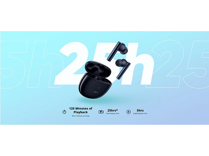 Realme Buds Air 2 dengan teknologi ANC, lebih ringan daripada sehelai kertas A4!