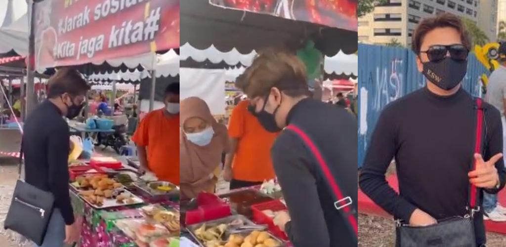 Kesian peniaga bazar ditimpa hujan, pemuda ini borong habis makanan kongsi rezeki
