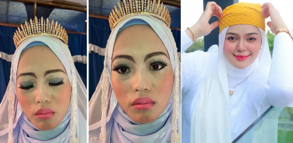 Pengantin 'dianiaya' mak andam, MUA Bellaz tampil taja solekan dan baju pengantin