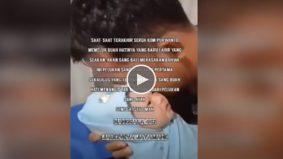 [VIDEO]Pelukan terakhir! Tangisan bayi seakan faham pelukan pertama dan terakhir