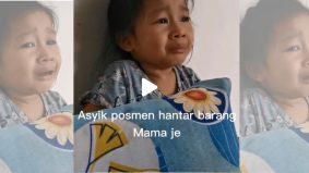 [VIDEO]Lucu! Budak nangis posmen selalu hantar barang mak