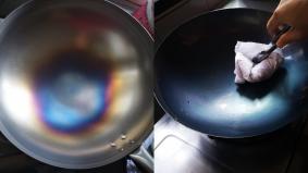 Tak nak kuali melekat berkarat, mesti bakar dan sapu minyak sampai hitam. Ini tekniknya