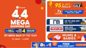 Shopee 4.4 Mega Shopping Day lebih istimewa, banyak promosi gila-gila sempena Ramadan