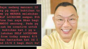 Wow! self lockdown dapat RM500, Michael Ang tawar ganjaran menarik
