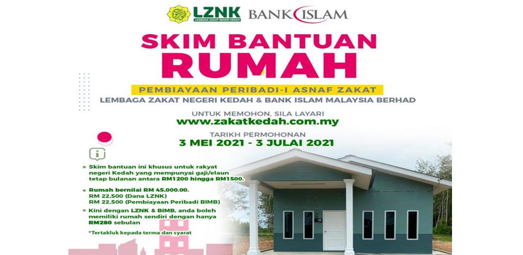 Mohon segera! Skim Bantuan Rumah RM45,000 LZNK hanya RM280 sebulan