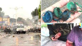 Ngeri! Tubuh putus dan terpelanting dari kenderaan, kereta bawa mercun bola meletup dipanah petir