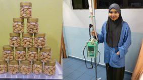 Jual biskut tampung kos transplantasi RM10,000, pesakit kanser darah tahap 4 ini tidak kenal erti putus asa