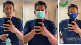 [VIDEO] Pakar IJN kongsi cara yang betul pakai double mask. Mudah saja!