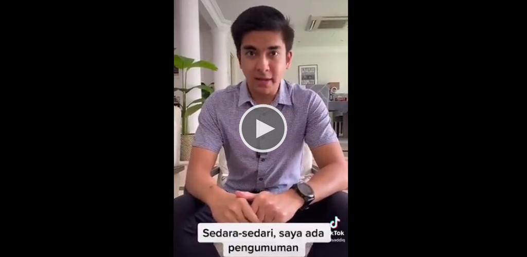 [VIDEO] Untungnya warga Muar! Syed Saddiq umum pakej lockdown SEJIWA