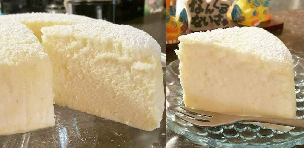 Kek keju gebu, lembut. Caranya mudah guna 3 bahan sahaja