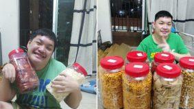 Pemuda Cina OKU, sebatang kara jual biskut, pelitup muka sara hidup
