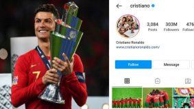 Cristiano Ronaldo, manusia pertama miliki 303 juta followers Instagram