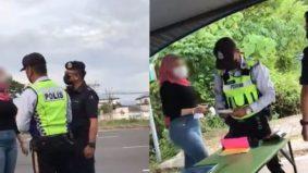 Wanita berkasar polis direman, pakaian, telefon bimbit dirampas