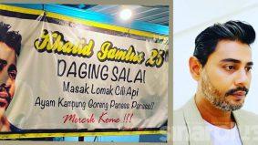 Gerai daging salai Khalid Jamlus terpaksa ditutup, warga maya kongsi simpati