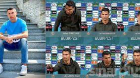 [VIDEO] Wow! warganet kagum Ronaldo tolak Coke, pilih air mineral.  Tegas jaga kesihatan