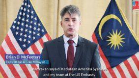 [VIDEO] Ramai terkesima mendengar ucapan Duta AS di Malaysia yang fasih cakap Melayu